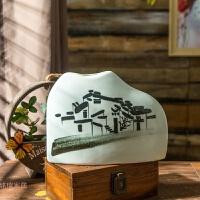 景德镇陶瓷摆件现代中式创意家居饰品电视柜玄关个性小插干花花瓶