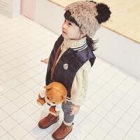 男女儿童冬季新款白鸭绒羽绒背心马甲 宝宝修身保暖外套