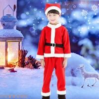 圣诞节儿童演出服幼儿园男女童圣诞帽圣诞老人角色扮演表演衣服冬