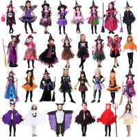 万圣节儿童服装女巫女童巫婆服装cosplay演出服人物扮演公主衣服