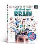 英文原版 All About Your Brain 关于你的大脑 青少年百科科普读物 记忆测试 脑筋急转弯 感知 推理