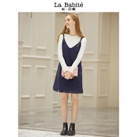 拉夏贝尔BS拉贝缇新款套装初女时尚上衣连衣裙百搭两件套商场