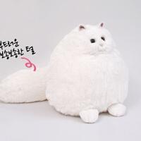 胖胖猫白色萌物仿真波斯猫公仔小猫咪生日情人节礼物送女友闺蜜毛绒玩具SN8841 白色 50厘米 胖胖猫