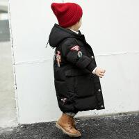 新款儿童羽绒服宝宝长款过膝1-4岁男女童婴幼儿外出服加厚外套