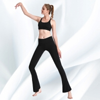 高腰舞蹈喇叭健身裤紧身弹力运动裤女长裤速干瑜伽裤秋冬