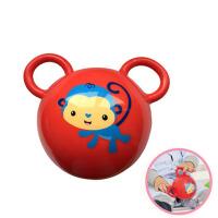 宝宝手抓耳朵球充气皮球玩具摇铃拉拉手柄铃铛球