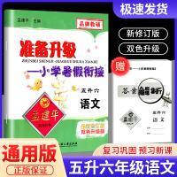 孟建平准备升级暑假衔接五升六语文部编人教版五年级暑假作业