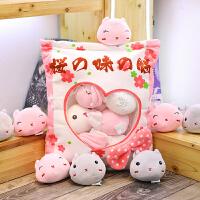 ins可爱小兔子毛绒玩具可爱枕头创意少女心零食抱枕玩偶