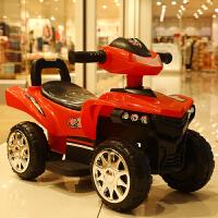 幼儿车四轮溜溜儿童扭扭车电动四轮溜溜车可坐人玩具车滑行男孩1-3岁2宝宝婴幼儿 红 电动款 +带音乐+可充电