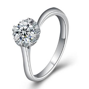 梦克拉 PT950铂金钻石戒指 星灿 铂金钻戒 婚戒 结婚戒指 订婚戒指 女款指环 群镶钻石 可礼品卡购买