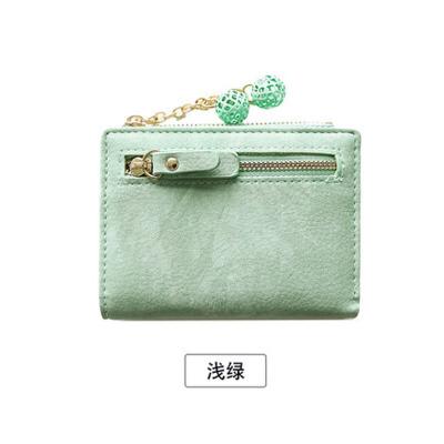 钱包女短款学生可爱2018新款小清新折叠钱夹零钱包