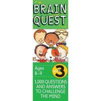 【现货】英文原版 Brain Quest Grade 3 Ages 8-9 Revised 4th 儿童智力开发系列卡片
