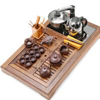 茶具套装家用紫砂陶瓷功夫电热炉实木茶盘茶台茶道茶杯茶壶