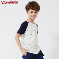 鸭鸭(YAYA )2018童装潮男夏短袖t恤中大童夏季棉夏装儿童T恤半袖体恤衫