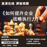 孙永玲如何提升企业战略执行力正版高清在线视频非DVD光盘 2