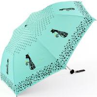 清仓!!+包邮!! 天堂伞 可爱小猫晴雨伞 黑胶三折防晒伞 防紫外线遮阳伞 伞约180克