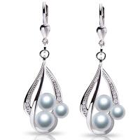 珍珠耳环女长款气质简约个性百搭925纯银大耳坠