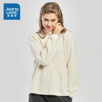 [秒杀价:38.9元,新年不打烊,仅限1.22-31]真维斯女装 冬装新款 时尚高领长袖毛衣
