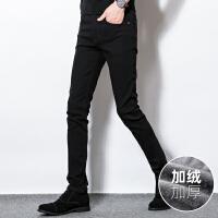 Lee Cooper秋冬潮牌直筒微弹新款修身男裤小脚长裤子牛仔裤男