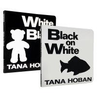 吴敏兰 英文原版绘本Black on white 黑与白纸板书2本幼儿英语启蒙0-2岁入门颜色和形状认知可以刺激宝宝视