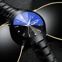手表男士学生韩版简约石英表时尚潮流休闲情侣夜光机械表