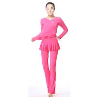 广场舞服装套装长袖舞蹈服瑜伽服套装莫代尔修身显瘦秋冬新款