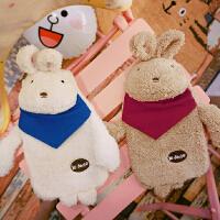 创意冬季保暖可爱热水袋注水兔子毛绒学生可拆洗卡通暖手宝女