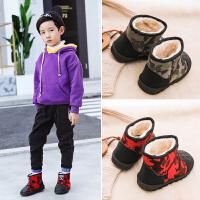 儿童靴子 男童女童低筒防滑套筒鞋冬季新款韩版儿童时尚休闲舒适百搭鞋子