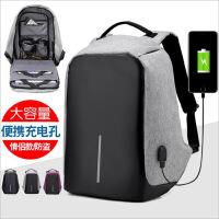 电脑包女时尚潮流韩版旅行包防盗双肩包女大学生多功能背包男书包