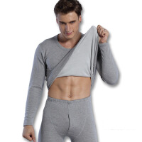 加绒加厚保暖内衣男士季套装导热纤维中老年保暧衣男式保暖套装 X