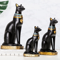 复古创意埃及招财猫小摆件家居客厅电视柜酒柜装饰品开业礼物