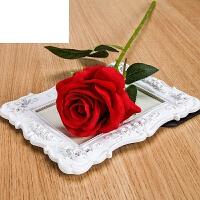 塑料花假花单支客厅装饰花绢花餐桌摆件仿真玫瑰花束干花花艺插花