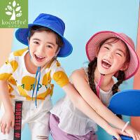kk树宝宝帽子薄款男女童遮阳帽夏天儿童渔夫帽太阳帽小孩盆帽防晒