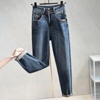 Lee Cooper 老爹裤复古做旧刮烂宽松小直筒牛仔裤女 LCDSQ0106