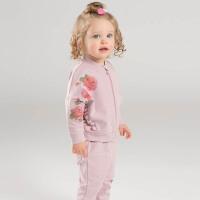 [2件3折价:119.1]戴维贝拉春季新款套装 女宝宝玫瑰印花裤套装DB7125