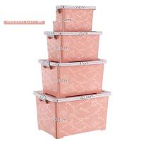 衣服收纳箱塑料整理箱玩具收纳盒储物箱特大号三件套 套装