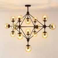 创意客厅灯具现代简约卧室灯美式复古工业风吊灯