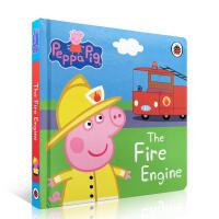 【全店300减100】英文纸板书Peppa Pig: The Fire Engine 纸板书 粉红猪小妹
