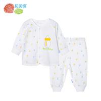 贝贝怡婴儿套装春季卡通纯棉新生儿衣服男女宝宝两件套BB8096精梳纯棉 柔软细腻