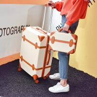 行李箱ins复古旅行箱男拉杆箱女万向轮韩版学生小清新密码子母箱