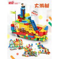 欢乐客儿童启蒙积木玩具大颗粒拼装益智1-2-3-6-7-8周岁男孩女孩