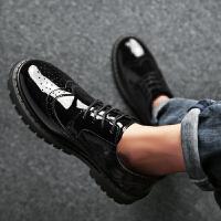 男士皮鞋韩版商务休闲正装男鞋英伦个性发型师秋季潮鞋
