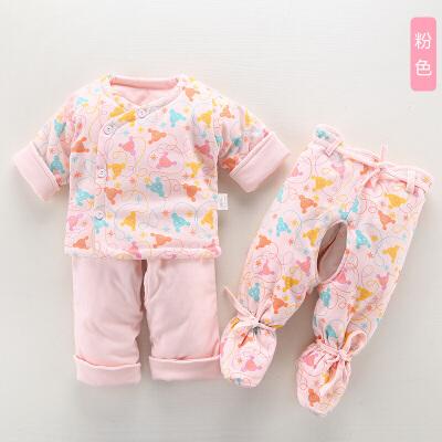 婴儿冬装棉衣套装新生儿衣服冬季宝宝秋冬装外套棉袄