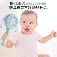 儿童拨浪鼓新生儿摇铃婴儿可啃咬水煮一岁宝宝玩具益智2-3岁0-1岁