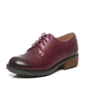 Teenmix/天美意春季专柜同款牛皮女单鞋6JH24AM6