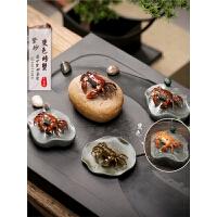 宜兴手工喷水可养变色茶宠荷叶螃蟹创意功夫茶具茶道茶玩摆件