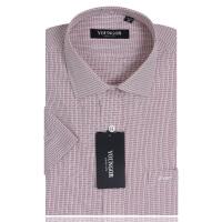 YOUNGOR雅戈尔男装 商务正装 男士衬衫 免烫 红色细格子 短袖衬衫 SXP11285-42Y