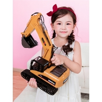 大号挖土机 遥控挖掘机充电动合金工程车无线儿童玩具男孩礼物