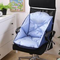 冬季毛绒餐椅垫藤椅加厚保暖坐垫办公室护腰坐垫靠垫一体电脑椅垫 天蓝色 冰丝舒爽款