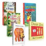 英文原版 I AM bunny/A KITTEN/PUPPY/Dear Zoo 纸板书Brown Bear what